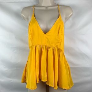 Express yellow babydoll tank camisole top.